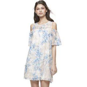 Lily Rose Floral Lace Cold Shoulder Boho Dress
